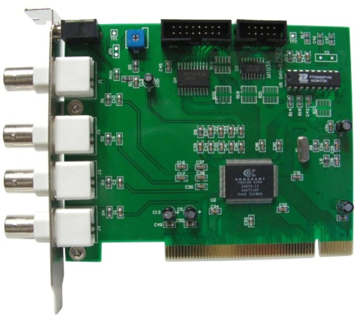 4 Channel Video DVR PCI Card For Security Camera CCTV