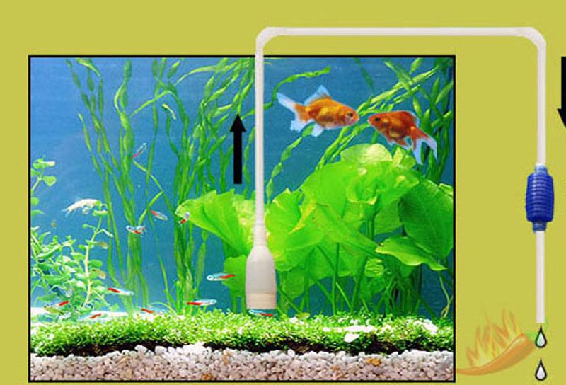 Aquarium fish tank water pump gravel cleaner 6 39 siphon for Fish tank siphon